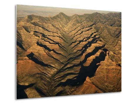 Aerials of Mountainous Ridges in Range Creek, Utah-Ira Block-Metal Print
