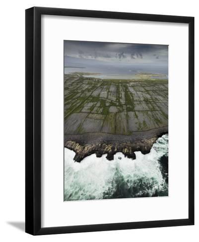 Aerial View of the Rugged Aran Islands-Jim Richardson-Framed Art Print