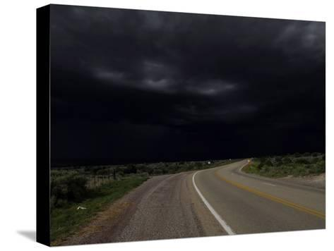Highway 68 to Taos and Storm Clouds-Raul Touzon-Stretched Canvas Print