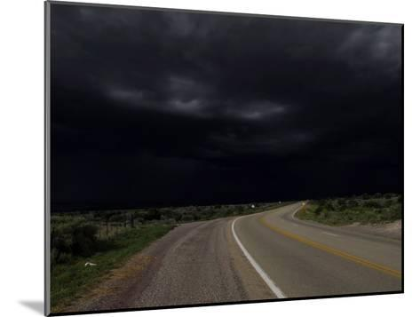 Highway 68 to Taos and Storm Clouds-Raul Touzon-Mounted Photographic Print