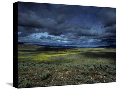 A Storm Building over the Plains of Southern Colorado-David Edwards-Stretched Canvas Print