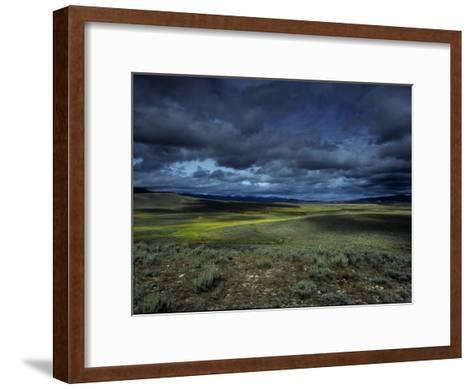A Storm Building over the Plains of Southern Colorado-David Edwards-Framed Art Print