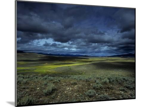 A Storm Building over the Plains of Southern Colorado-David Edwards-Mounted Photographic Print