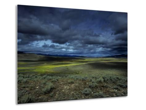 A Storm Building over the Plains of Southern Colorado-David Edwards-Metal Print