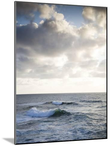 A Lone Wave Breaks as the Clouds Glow at Sunset-Michael Hanson-Mounted Photographic Print