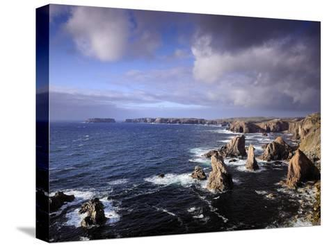 Rugged Sea Stacks of the Isle of Lewis-Jim Richardson-Stretched Canvas Print