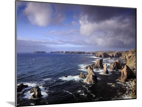 Rugged Sea Stacks of the Isle of Lewis-Jim Richardson-Mounted Photographic Print