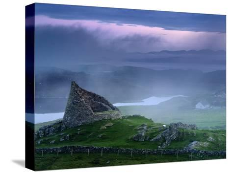 The Remains of the Double-Walled Fortress, Dun Carloway-Jim Richardson-Stretched Canvas Print