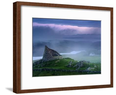 The Remains of the Double-Walled Fortress, Dun Carloway-Jim Richardson-Framed Art Print