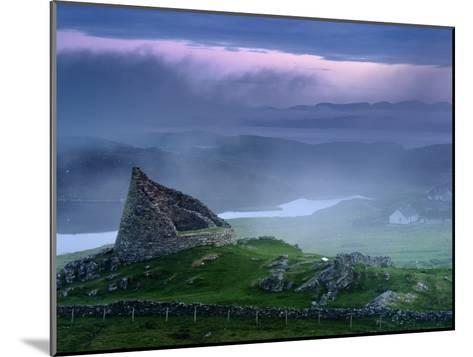 The Remains of the Double-Walled Fortress, Dun Carloway-Jim Richardson-Mounted Photographic Print