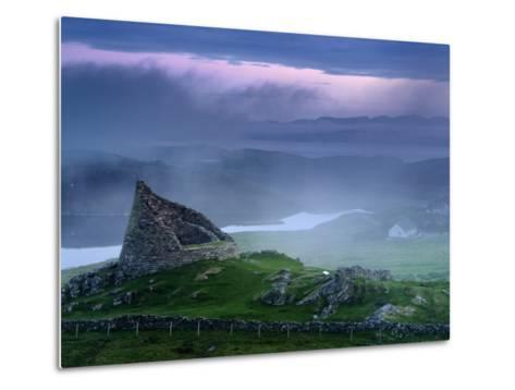 The Remains of the Double-Walled Fortress, Dun Carloway-Jim Richardson-Metal Print
