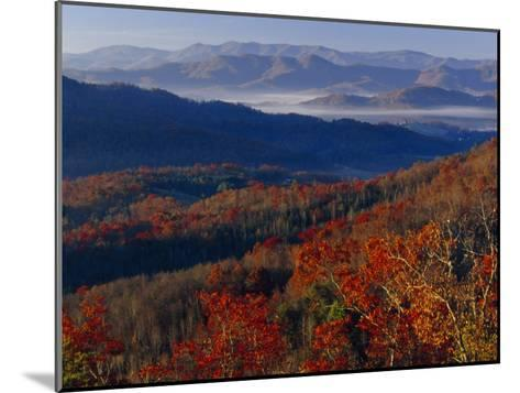 Fog Lying in Mountain Valleys in the Early Morning in Autumn-Raymond Gehman-Mounted Photographic Print
