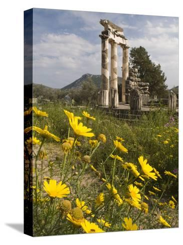 The Tholos Temple in the Sanctuary of Athena Pronaia And-Richard Nowitz-Stretched Canvas Print