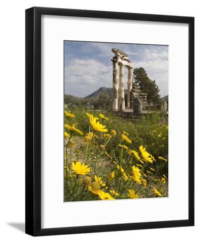The Tholos Temple in the Sanctuary of Athena Pronaia And-Richard Nowitz-Framed Art Print
