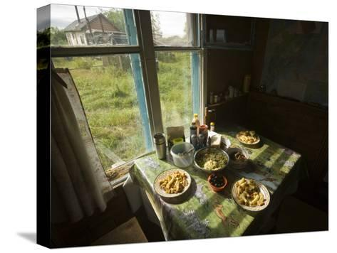 A House in the Kronotsky Nature Reserve-Michael Melford-Stretched Canvas Print