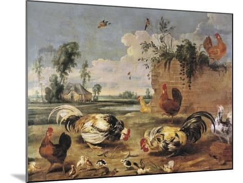 Fight of Cocks-Frans Snyders-Mounted Art Print