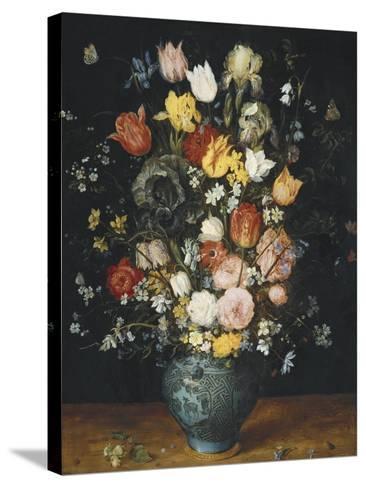 Bouquet in a Blue Vase-Jan Brueghel the Elder-Stretched Canvas Print
