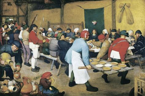 Peasant Wedding (Bauernhochzeit)-Pieter Bruegel the Elder-Stretched Canvas Print