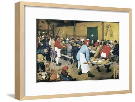 Peasant Wedding (Bauernhochzeit)-Pieter Bruegel the Elder-Framed Art Print