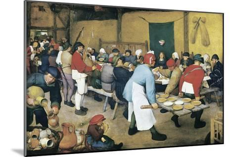 Peasant Wedding (Bauernhochzeit)-Pieter Bruegel the Elder-Mounted Art Print