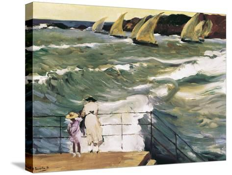 Departure of Boats-Joaqu?n Sorolla y Bastida-Stretched Canvas Print