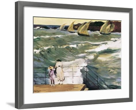 Departure of Boats-Joaqu?n Sorolla y Bastida-Framed Art Print