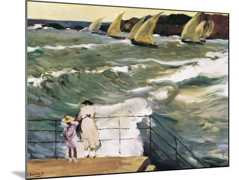 Departure of Boats-Joaqu?n Sorolla y Bastida-Mounted Art Print