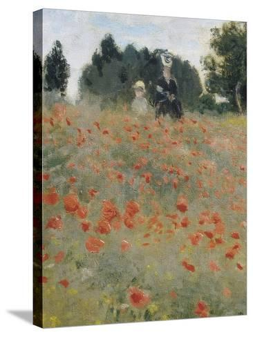 Wild Poppies-Claude Monet-Stretched Canvas Print