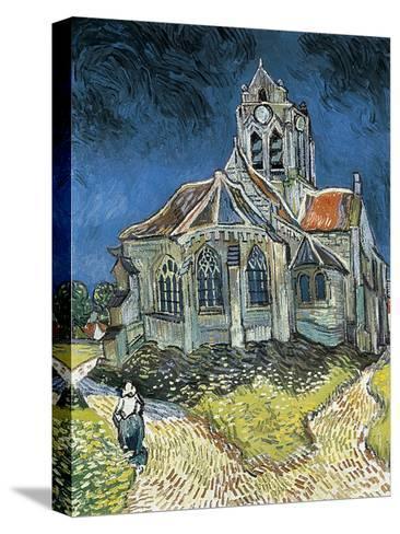 The Church at Auvers-Sur-Oise (L'Église D'Auvers-Sur-Oise, Vue Du Chevet)-Vincent van Gogh-Stretched Canvas Print
