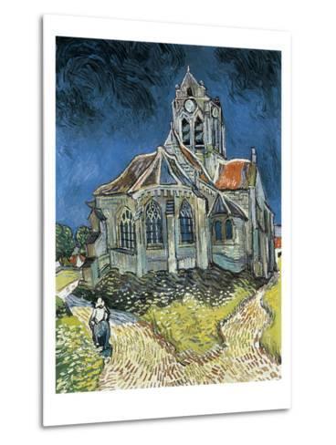 The Church at Auvers-Sur-Oise (L'Église D'Auvers-Sur-Oise, Vue Du Chevet)-Vincent van Gogh-Metal Print