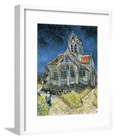 The Church at Auvers-Sur-Oise (L'Église D'Auvers-Sur-Oise, Vue Du Chevet)-Vincent van Gogh-Framed Art Print