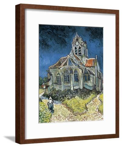 The Church at Auvers-Sur-Oise (L'?glise D'Auvers-Sur-Oise, Vue Du Chevet)-Vincent van Gogh-Framed Art Print