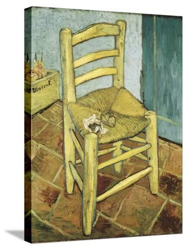 Van Gogh's Chair-Vincent van Gogh-Stretched Canvas Print