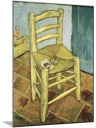 Van Gogh's Chair-Vincent van Gogh-Mounted Art Print