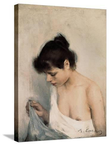 Study-Ramon Casas Carbo-Stretched Canvas Print