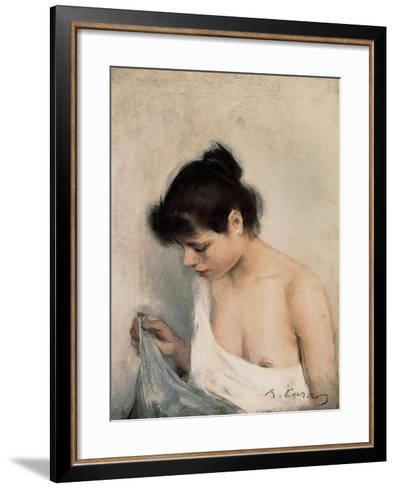 Study-Ramon Casas Carbo-Framed Art Print