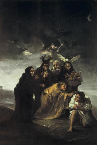 The Spell or the Witches-Francisco de Goya-Stretched Canvas Print