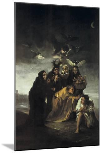 The Spell or the Witches-Francisco de Goya-Mounted Art Print