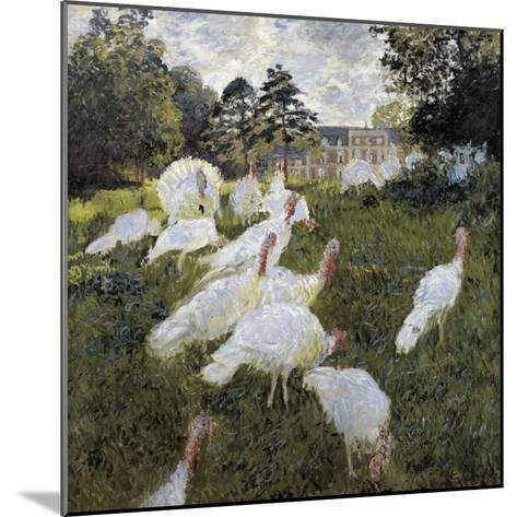 The Turkeys at the Chateau De Rottembourg, Montgeron-Claude Monet-Mounted Art Print