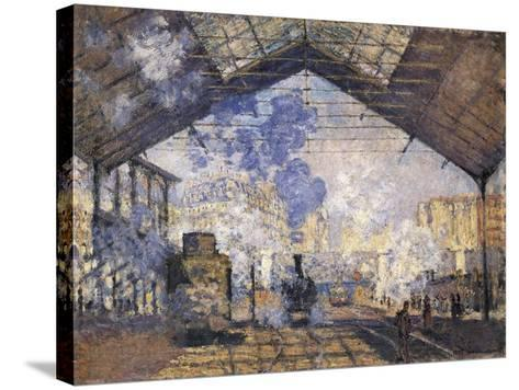 The Gare St-Claude Monet-Stretched Canvas Print