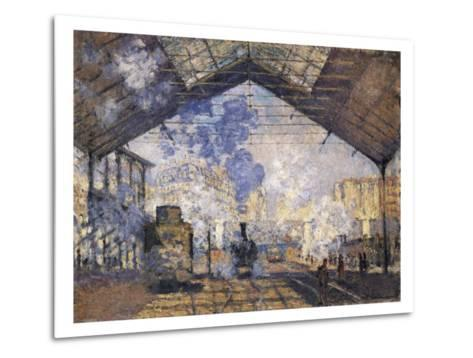 The Gare St-Claude Monet-Metal Print