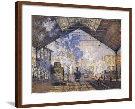 The Gare St-Claude Monet-Framed Art Print