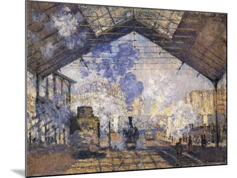 The Gare St-Claude Monet-Mounted Art Print