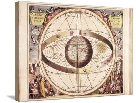 Scenographia Systematis Mundani Ptolemaici, Representation of the Ptolemaic Universe-Andreas Cellarius-Stretched Canvas Print