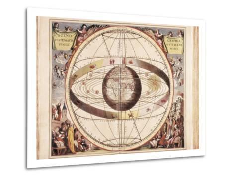 Scenographia Systematis Mundani Ptolemaici, Representation of the Ptolemaic Universe-Andreas Cellarius-Metal Print