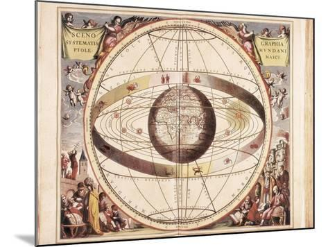 Scenographia Systematis Mundani Ptolemaici, Representation of the Ptolemaic Universe-Andreas Cellarius-Mounted Art Print