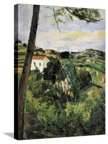 Pine-Tree at L'Estaque (Landscape with Red Roof)-Paul C?zanne-Stretched Canvas Print