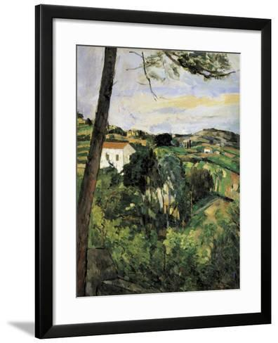 Pine-Tree at L'Estaque (Landscape with Red Roof)-Paul C?zanne-Framed Art Print