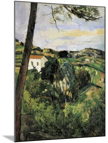 Pine-Tree at L'Estaque (Landscape with Red Roof)-Paul C?zanne-Mounted Art Print