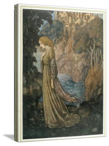 The Bell and Other Poems-Edmund Dulac-Stretched Canvas Print